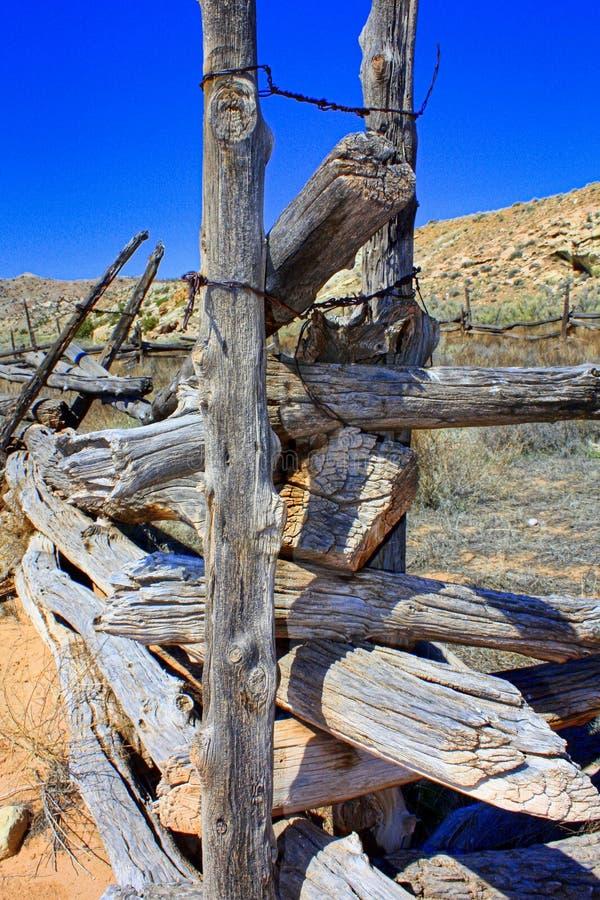 Stary beli ogrodzenie w Utah obrazy royalty free