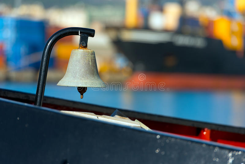 Stary Bell na statku fotografia royalty free