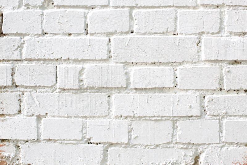 Stary biały ściana z cegieł, tło tekstura fotografia royalty free