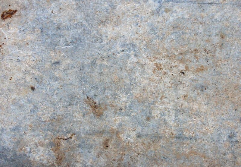 Stary biały brudny metalu prześcieradło, tekstura obrazy stock