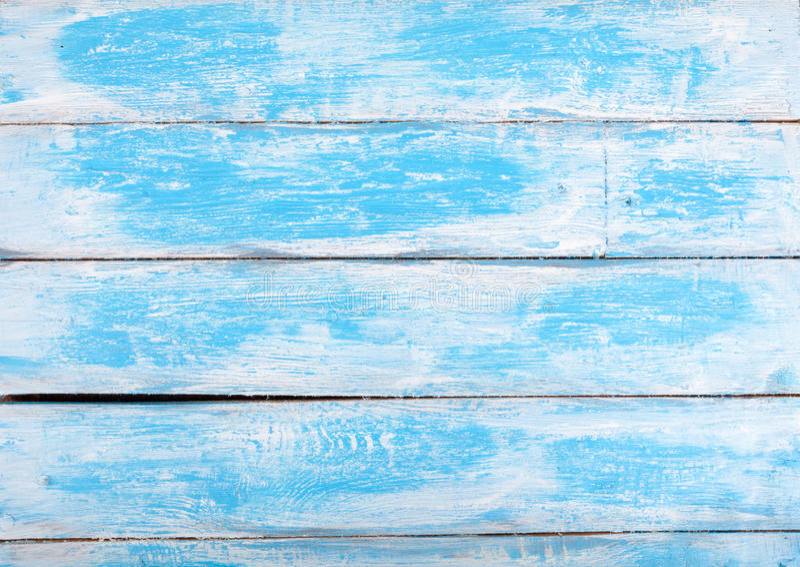 Stary biały i błękitny drewniany textured tło w Francuskim stylu obrazy stock