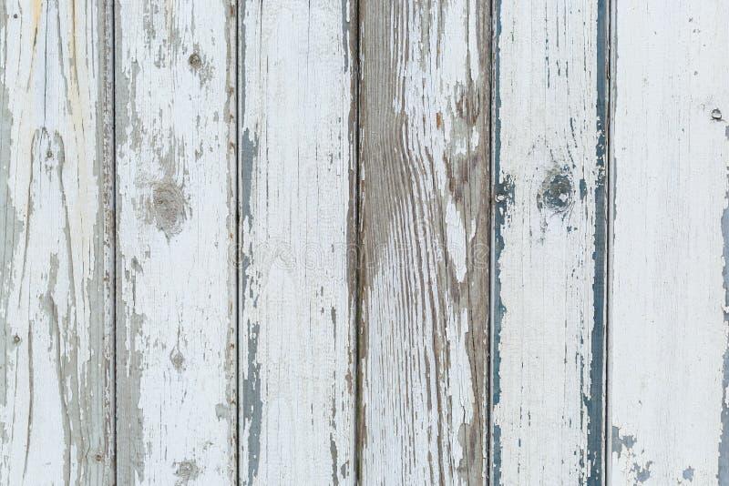 Stary biały nieociosany drewniany tło zdjęcie royalty free