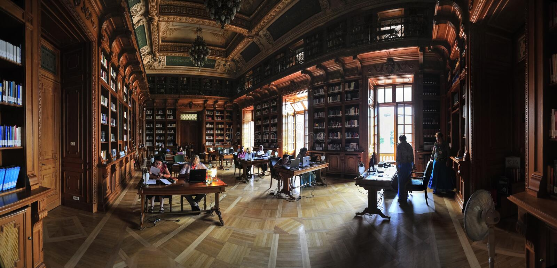 Stary bibliotheque Rumuński uniwersytet obraz royalty free