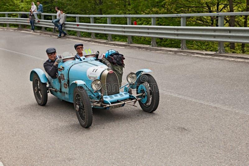 Stary bieżny samochód Bugatti T 35 A zdjęcie stock