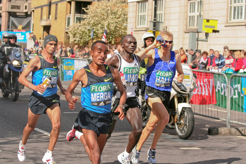 stary biegacze maratonu elity obraz stock