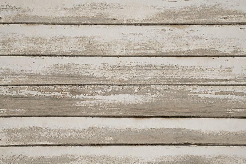 Stary biel malująca drewno ściana zdjęcia royalty free