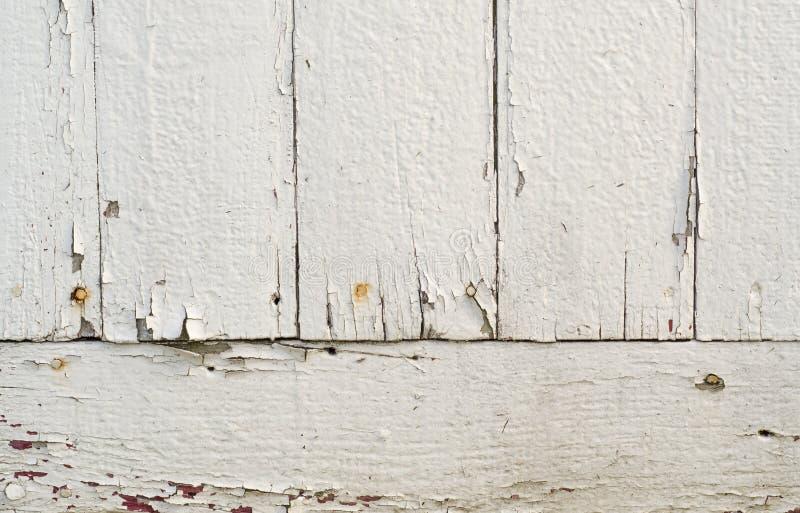 Stary biel malujący wsiada tło zdjęcie stock