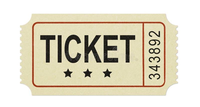 stary bilet zdjęcie royalty free