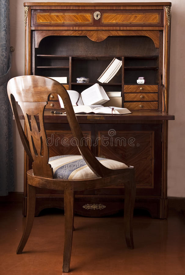 stary biurka writing obraz royalty free