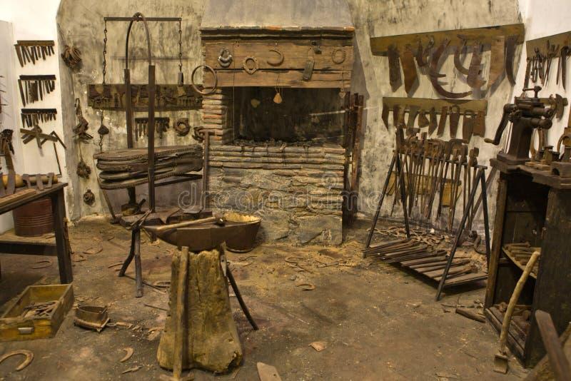 Stary blacksmith warsztat zdjęcie royalty free