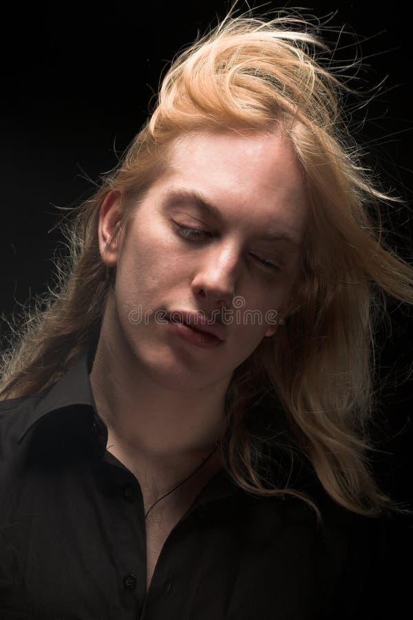 stary blondynkę długie young zdjęcia royalty free