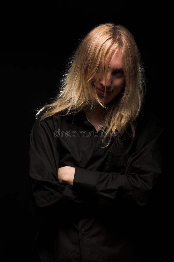 stary blondynkę długie young zdjęcia stock