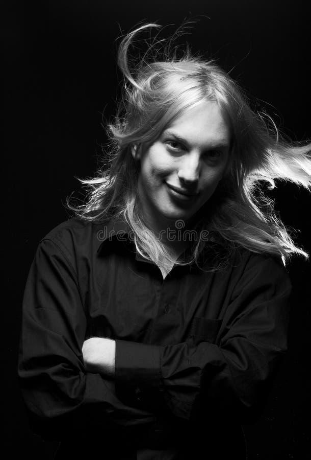stary blondynkę długie young zdjęcie royalty free
