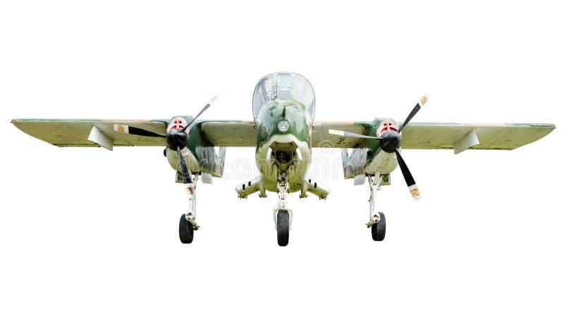 Stary bojowy samolot na białym tle obraz stock