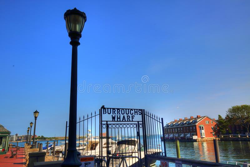 Stary Boston nabrzeże obrazy royalty free