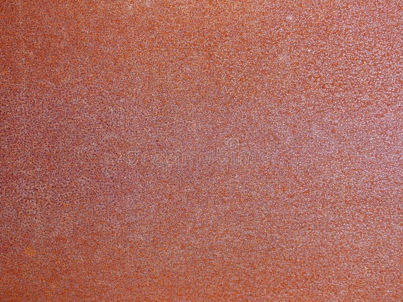 Stary brąz i pomarańczowy ośniedziały przemysłowy stalowego prześcieradła tło zdjęcie royalty free