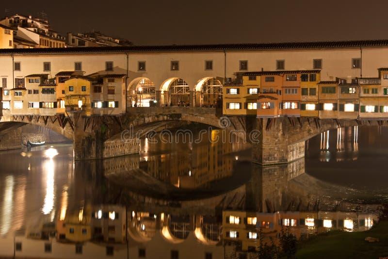 stary bridżowy Florence zdjęcie royalty free