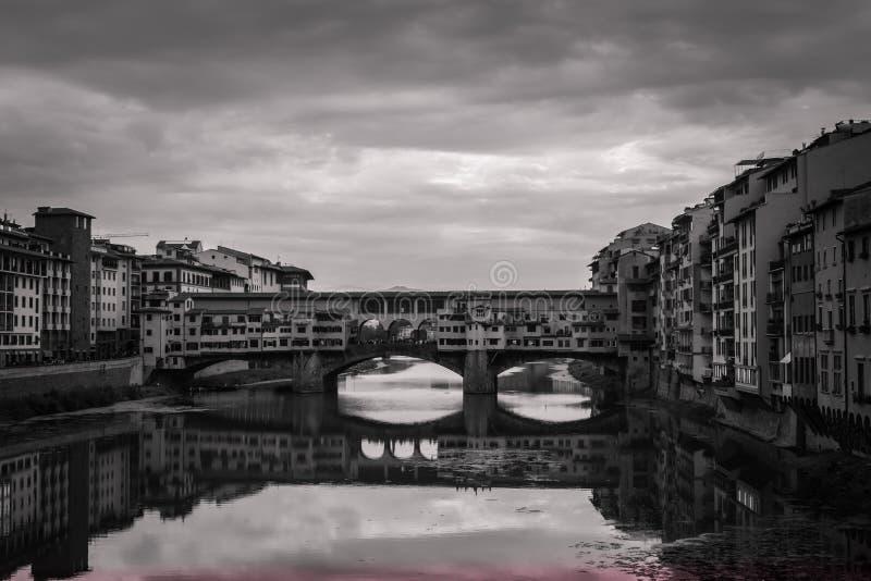 Stary bridżowy Florencja fotografia stock