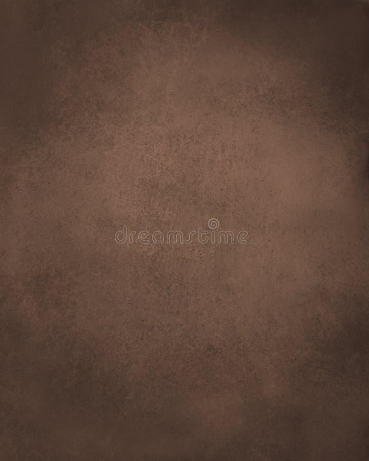 Stary brown papieru tło, ciemny kawowy kolor z czarnym grunge martwił rocznik textured granicy royalty ilustracja