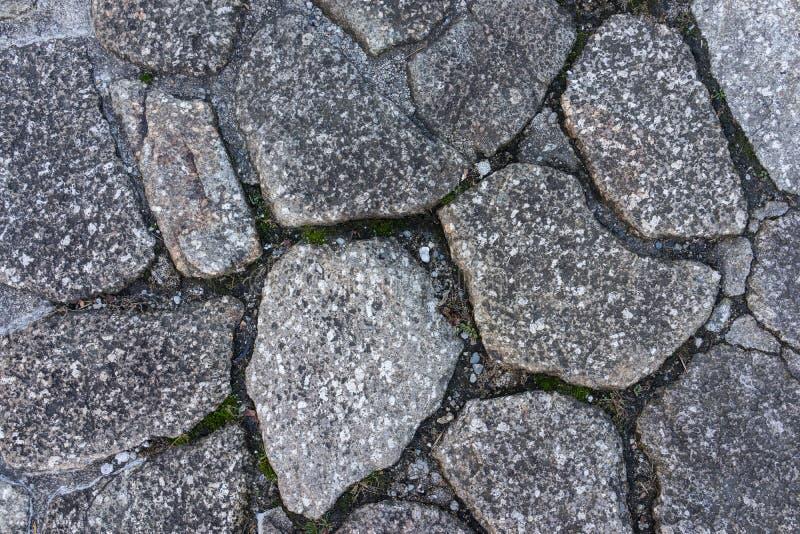 Stary brud skały kamienia podłoga wzór jako tekstura lub tło w Ja zdjęcia stock