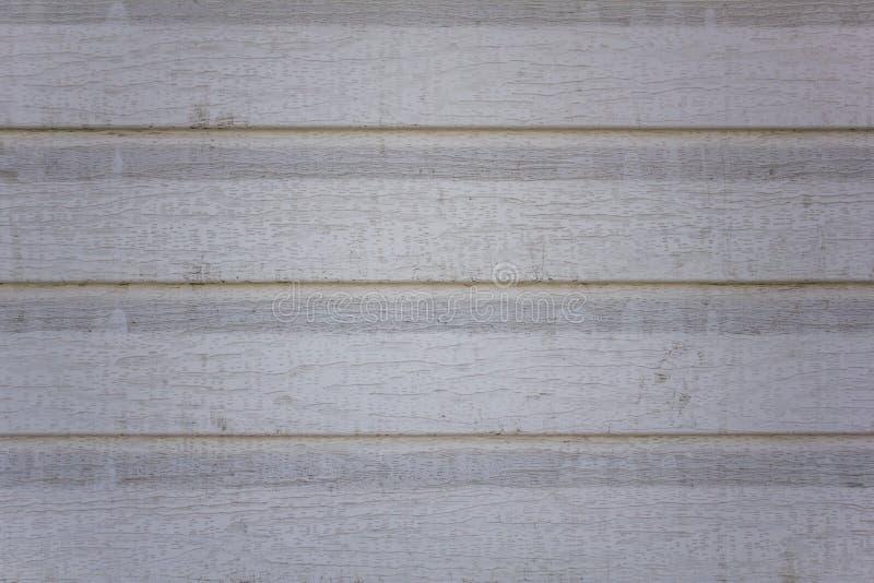 Stary brudny biały szary beż ściany ogrodzenie od drewnianych desek Horyzontalne linie Szorstkiej powierzchni tekstura zdjęcia stock