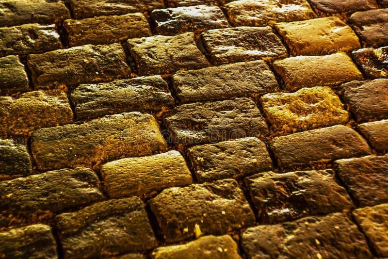 stary brukowy mały kamieni ulicy miasteczko plac czerwony Moscow/ fotografia royalty free