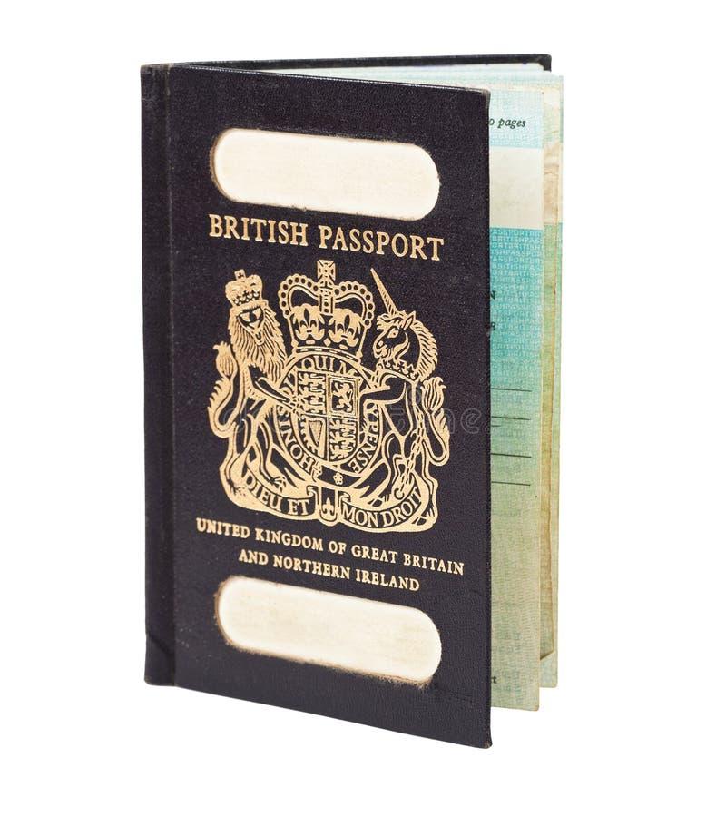 Stary Brytyjski paszport zdjęcie stock
