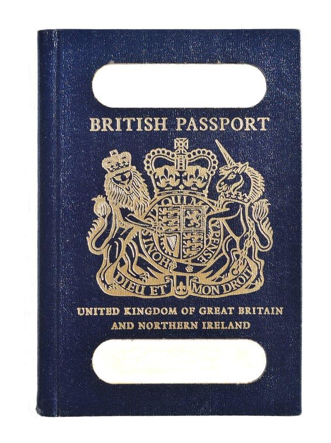 Stary Brytyjski paszport zdjęcia stock