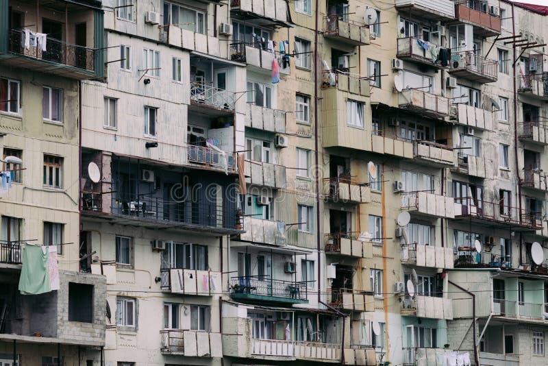 Stary budynek mieszkaniowy w Gruzja fotografia stock