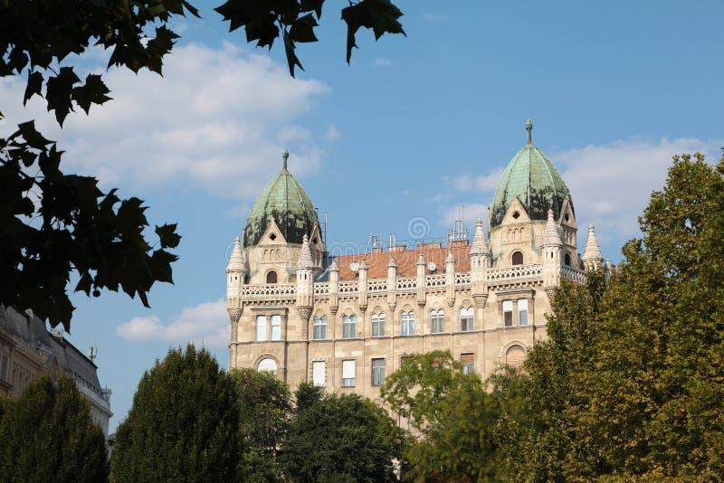 Stary budynek w Budapest w Wrześniu w Węgry zdjęcie royalty free