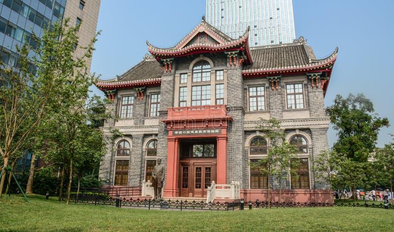 Stary budynek w Chengdu, Chiny zdjęcia stock
