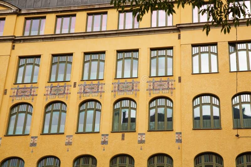STARY budynek W SZTOKHOLM zdjęcia stock