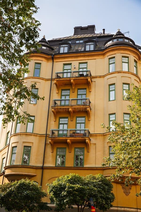 STARY budynek W SZTOKHOLM zdjęcie stock