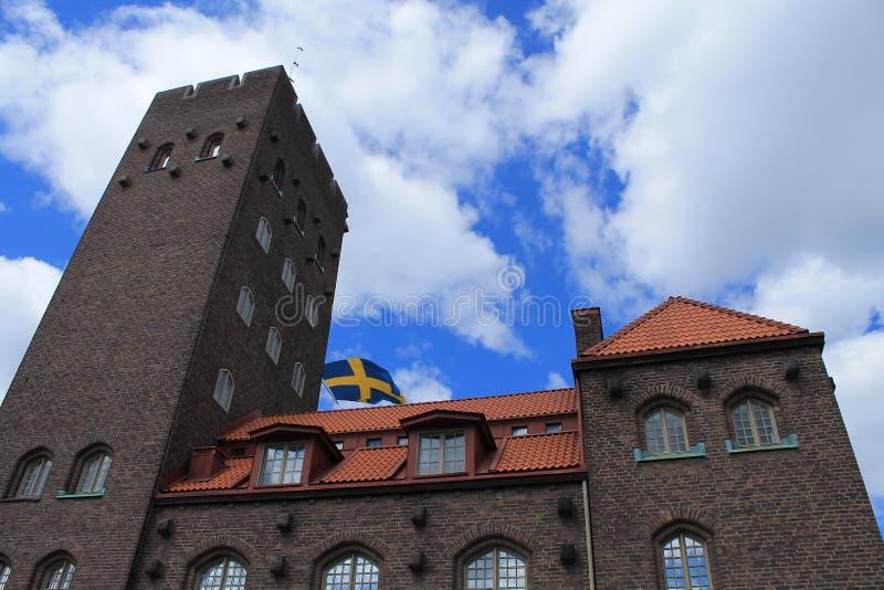 STARY budynek W SZTOKHOLM zdjęcia royalty free