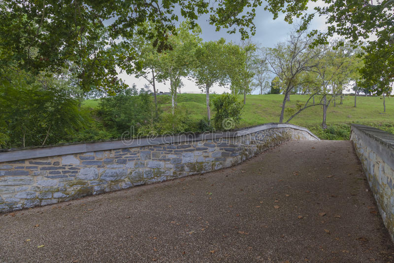 Stary Burnside most przy Antietam obywatela polem bitwy obraz stock