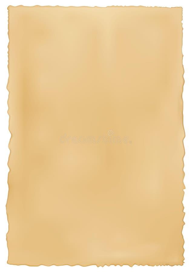Stary być ubranym papierowy tło. ilustracja wektor