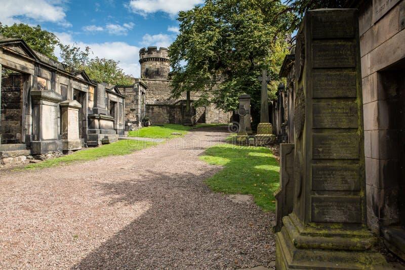 Stary Calton Buriel Zmielony Edynburg zdjęcie stock