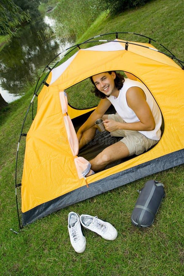 stary campingowy namiot obrazy royalty free