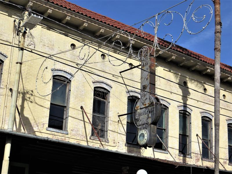 Stary ceglany dom, Ybor miasto, Tampa, Floryda zdjęcia stock