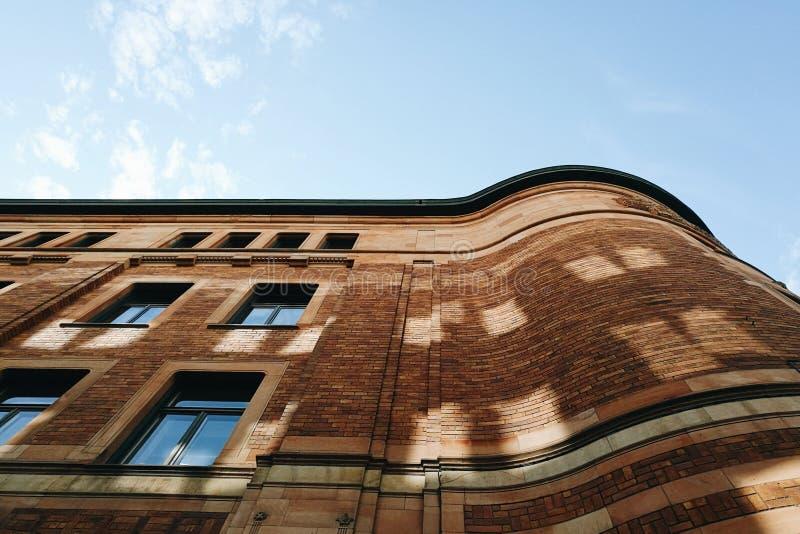 Stary ceglany pocztowy biurowy Sztokholm Szwecja zdjęcie stock