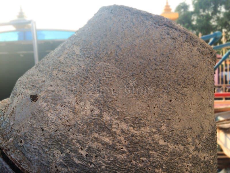 Stary cementowy melanżer z rdzą fotografia stock