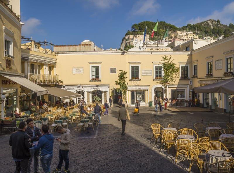 Stary centrum Capri wyspa obrazy royalty free