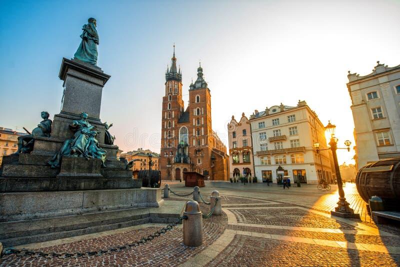 Stary centrum miasta widok w Krakow obraz royalty free