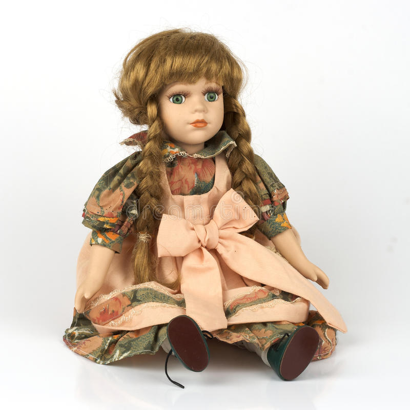 stary ceramiczny dolly obraz stock