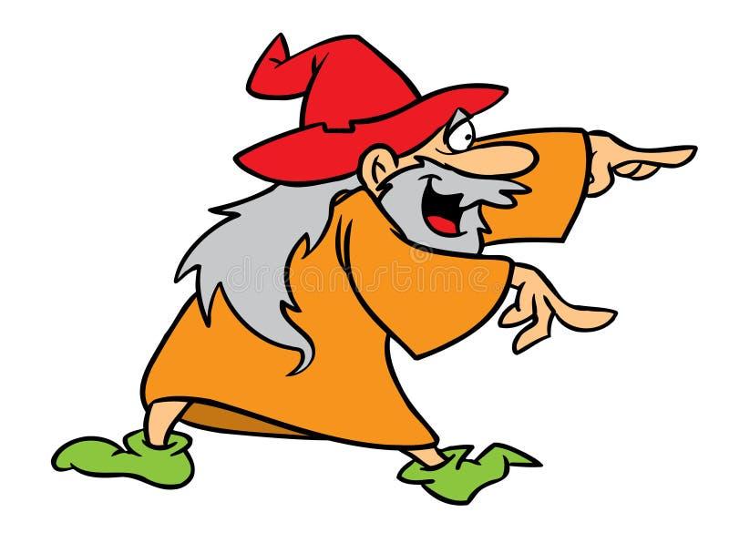 stary charakteru czarownik royalty ilustracja