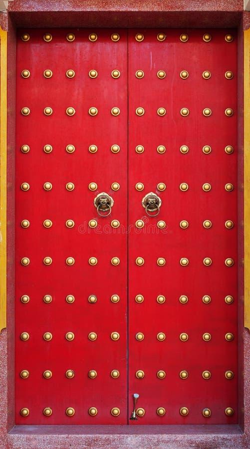 Stary chiński drzwi zdjęcie stock