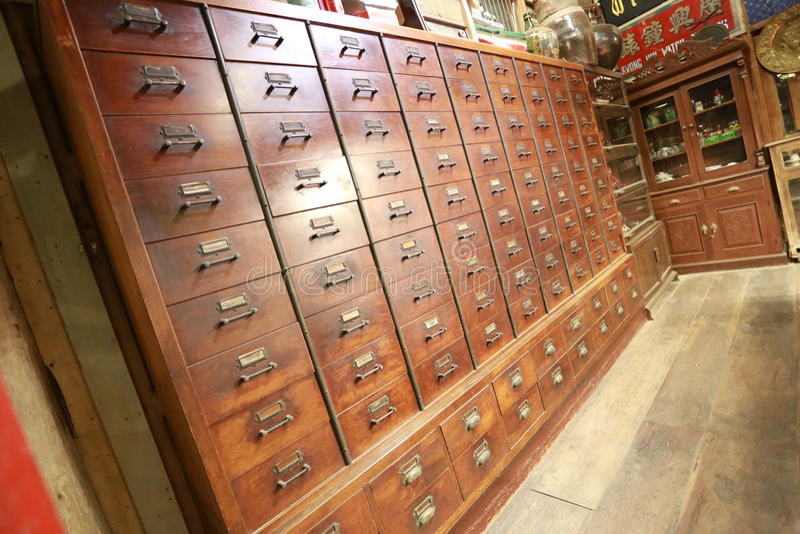 Stary chińskiej medycyny sklep obrazy royalty free