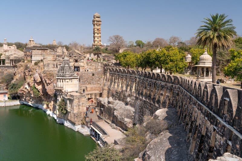 Stary chitargarh fort w India obraz stock