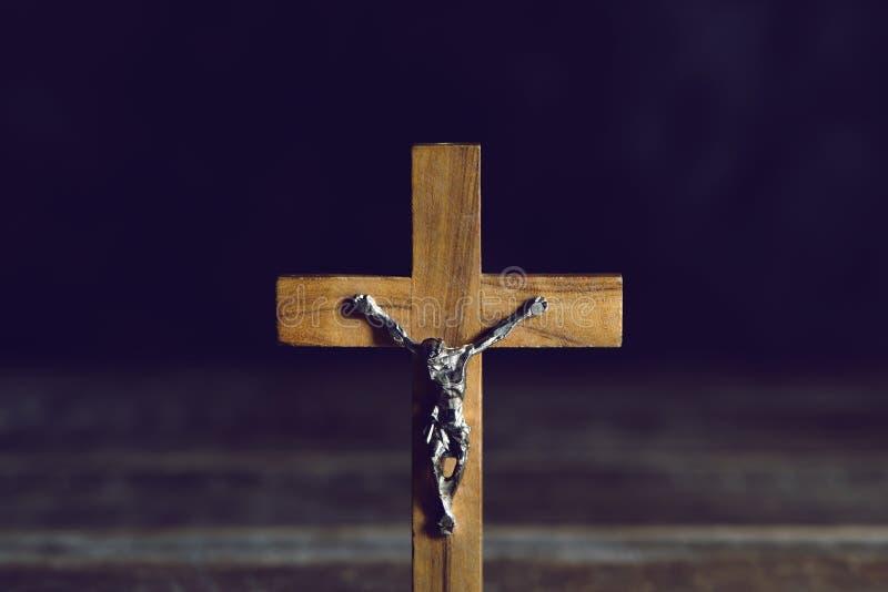 Stary chrześcijański krucyfiks zdjęcia royalty free