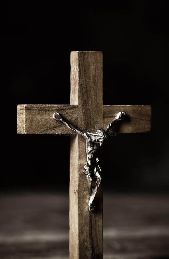 Stary chrześcijański krucyfiks obrazy royalty free